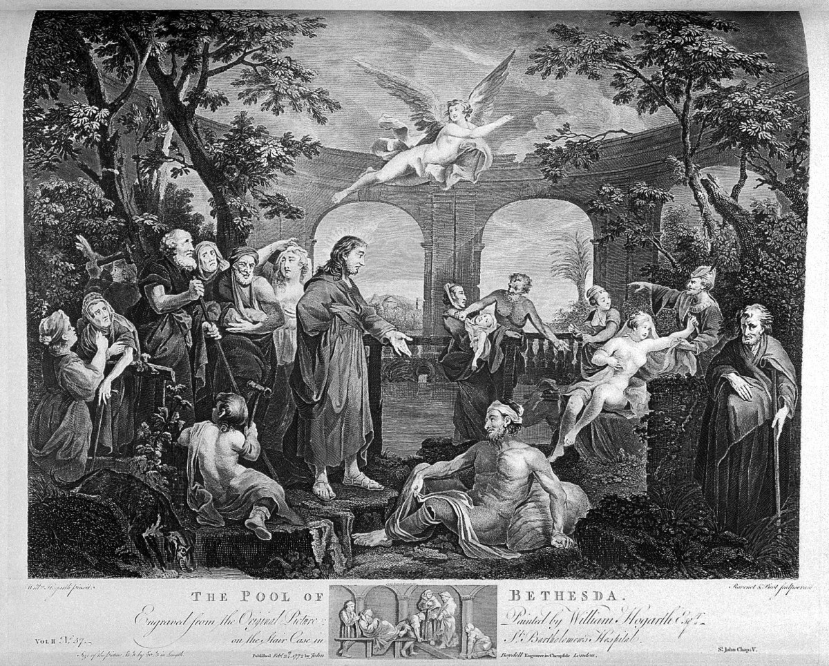L0030441 The works of William Hogarth: The Pool of Bethesda.
